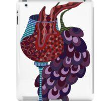 Wine and grapes illustration iPad Case/Skin