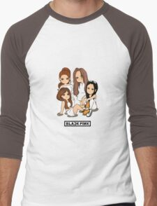 blackpink chibi Men's Baseball ¾ T-Shirt