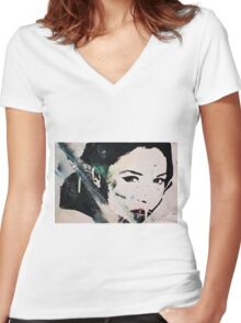 Monica Bellucci Women's Fitted V-Neck T-Shirt