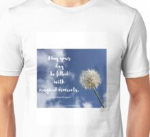 Dandelion in the Sky with Quote Unisex T-Shirt