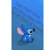 Stitch - Ohana Photographic Print
