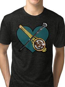 Chilton: Clip/cane over heart Tri-blend T-Shirt