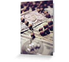 Politics Religion and Money Greeting Card