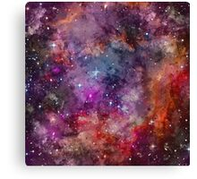 Galaxy - Under The Wing of The Small Megallenic Cloud - Watercolour Canvas Print
