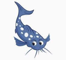 blue catfish with white spots Kids Tee