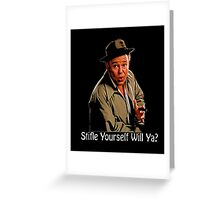 All In The Family Archie Bunker Stifle Yourself Black Shirt Greeting Card