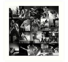 Punk Goes Collage Art Print