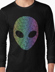 Coloured Alien Typograph Long Sleeve T-Shirt