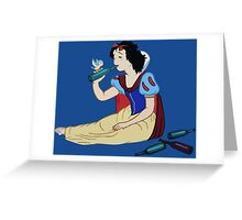 (Snow) White Girl Wasted Greeting Card