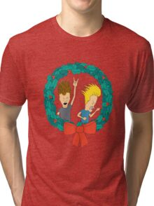 Beavis & Butthead Christmas Tri-blend T-Shirt