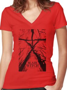 Blair Witch the movie Women's Fitted V-Neck T-Shirt