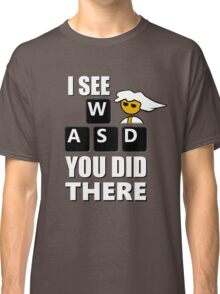 I see WASD you did there - Steam PC Master Race Classic T-Shirt