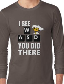 I see WASD you did there - Steam PC Master Race Long Sleeve T-Shirt