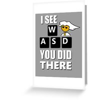 I see WASD you did there - Steam PC Master Race Greeting Card
