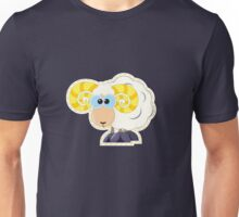 ram with yellow horns cartoon Unisex T-Shirt