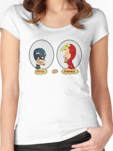 Beavis & Butthead Cosplay Hero Women's Fitted Scoop T-Shirt