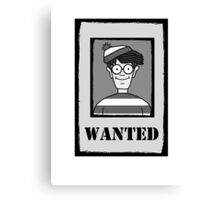 WANTED Canvas Print