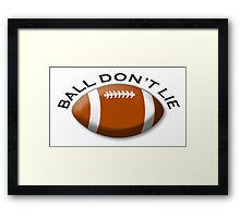 RUGBY, Sport, Game, Ball don't lie, Framed Print
