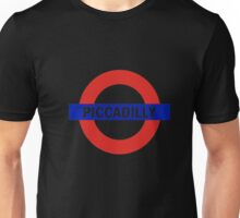 London PICCADILLY T-Shirt Tube Undergorund tee-shirt Unisex T-Shirt