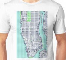 Lower Manhattan Map Unisex T-Shirt