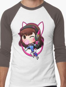Overwatch D.Va Chibi Men's Baseball ¾ T-Shirt