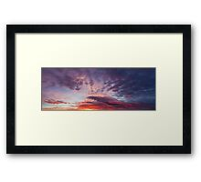 Beautiful colors sunset clouds Framed Print