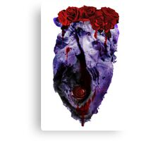 Space Heart roses Canvas Print