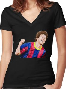 CREATING !! LEO MESSI Women's Fitted V-Neck T-Shirt