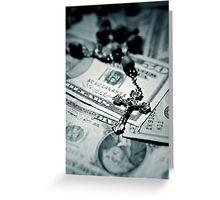 Politics Religion and Money - 2 Greeting Card