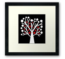 Simple decorative tree Framed Print