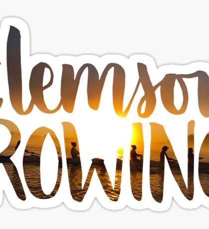 Clemson Rowing Sunrise Sticker