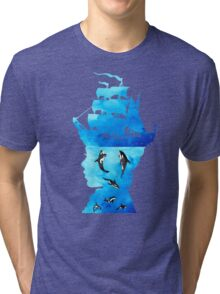 Swimming With Whales Tri-blend T-Shirt
