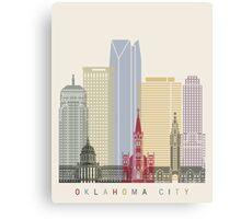 Oklahoma City skyline poster Canvas Print