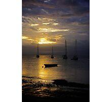 Sunset Savusavu Harbour (Portrait) Photographic Print