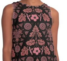 Pink Floral Triangles Contrast Tank