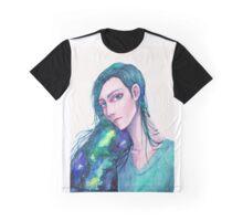 Galaxy Hair Graphic T-Shirt