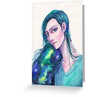 Galaxy Hair Greeting Card