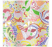 abstract light colored pattern Poster