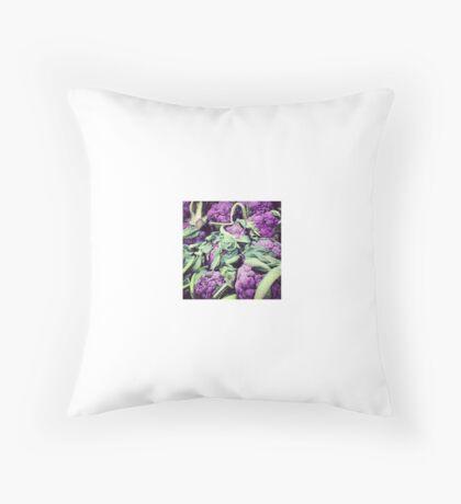 Purple Brains & Green Tentacles Throw Pillow