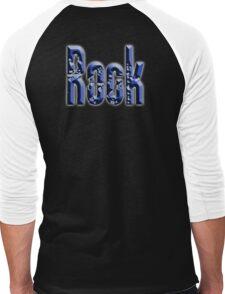 Rock, Rock & Roll Music, Rock it! Rock band, Rockers, on BLACK Men's Baseball ¾ T-Shirt