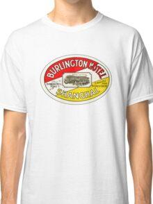 BURLINGTON HOTEL SHANGHAI CHINA Vintage Luggage Label Baggage Sticker Decal Classic T-Shirt