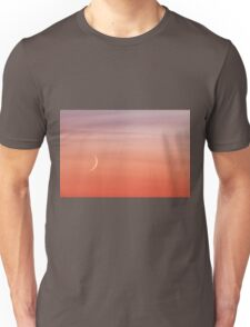 Moon crescent and sunset sky Unisex T-Shirt