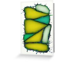 Crushed yellow Greeting Card