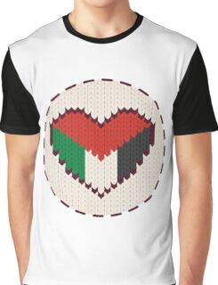 Palestine knitted heart  Graphic T-Shirt