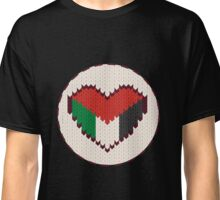 Palestine knitted heart  Classic T-Shirt