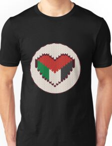 Palestine knitted heart  Unisex T-Shirt