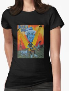 Two Blues Womens Fitted T-Shirt
