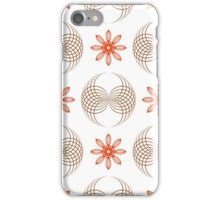 geometric flowers and forms like wings iPhone Case/Skin