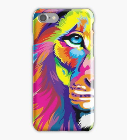 Multicolored Lion iPhone Case/Skin