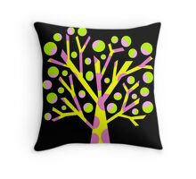 Simple colorful tree Throw Pillow